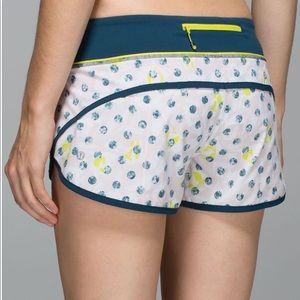 Lululemon Speed Short in Painted Lady
